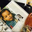 Verblüffende Ähnlichkeit zwischen Olivier Rousteing als Kind und Baby-North