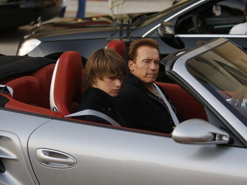 Arnold Schwarzenegger mit Sohn Patrick
