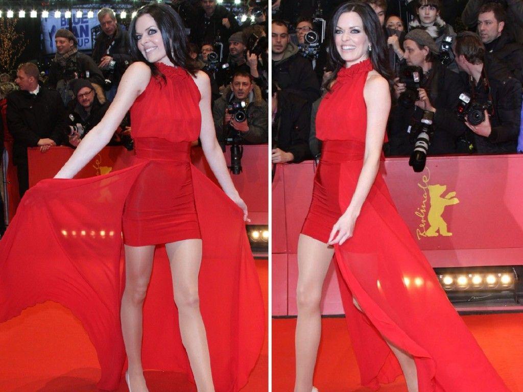 Berlinale 2011: Kate Hall im roten Dress bei Eröffnungs-Gala