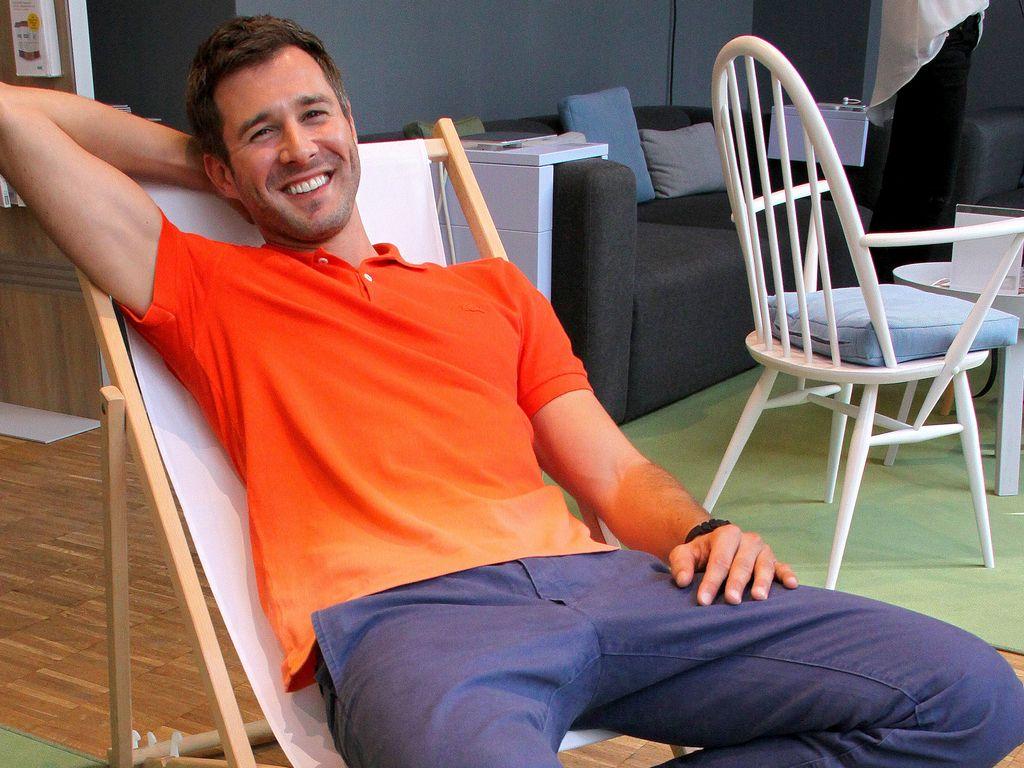 Jochen Schropp im Liegestuhl