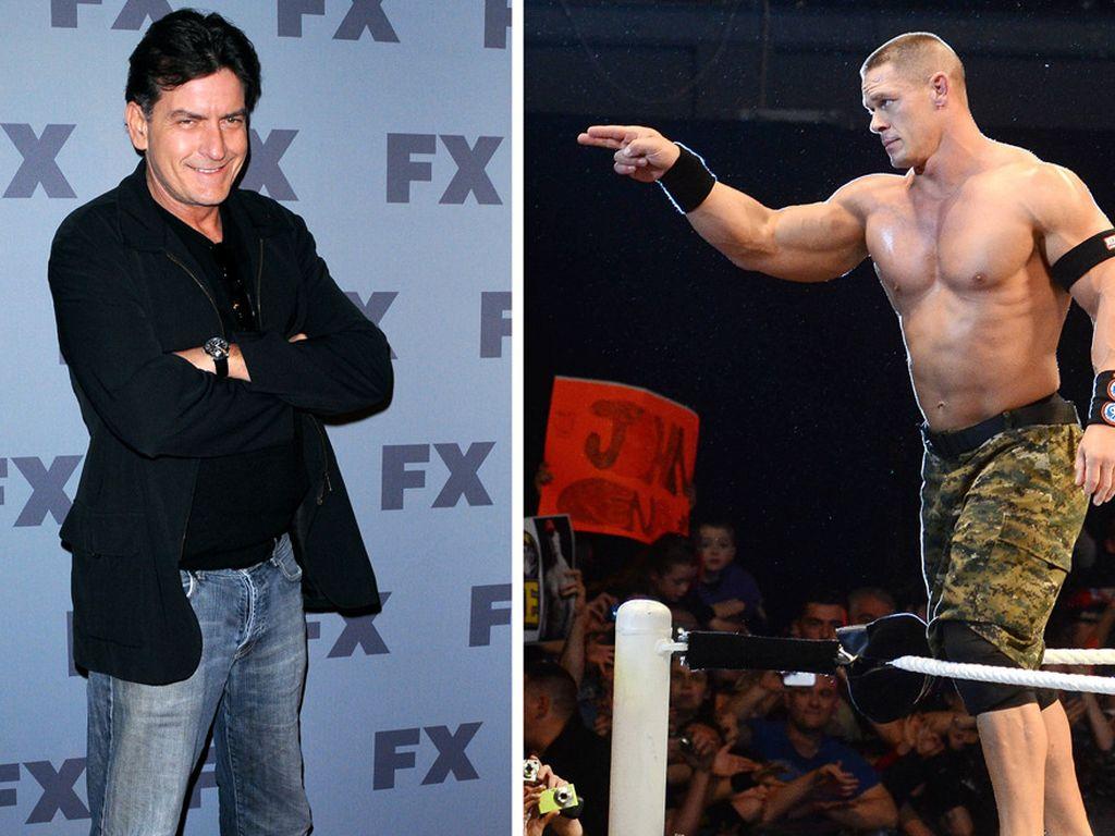 John Cena und Charlie Sheen