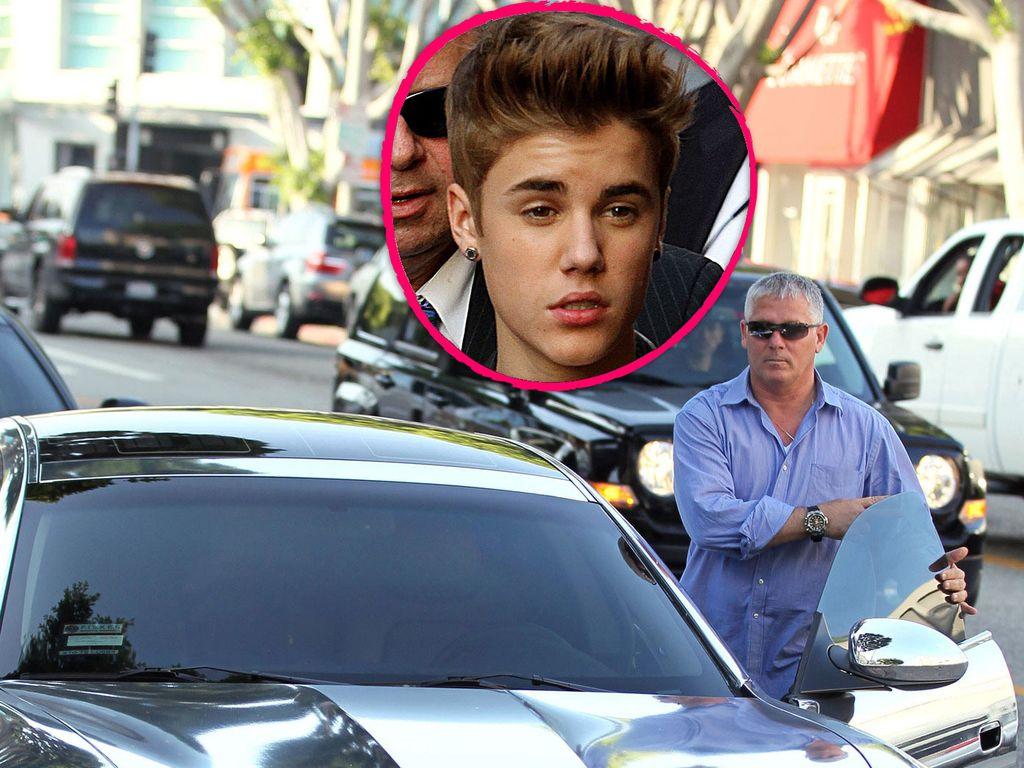 Justin Bieber und sein Auto