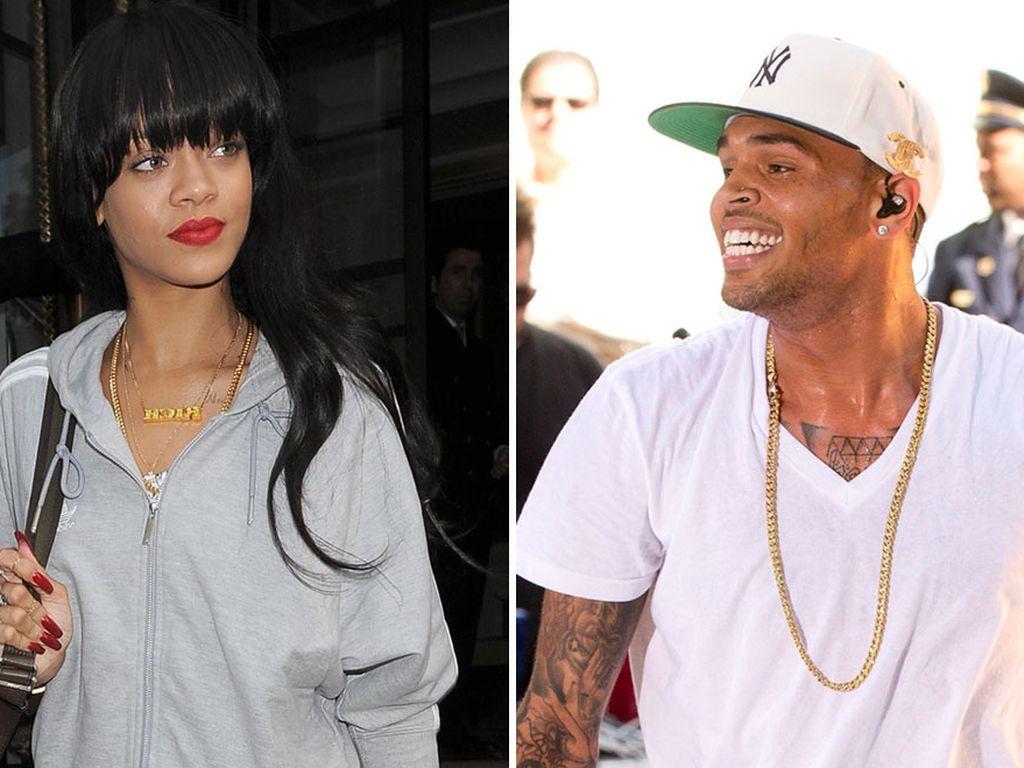 Rihanna und Chris Brown schauen sich an