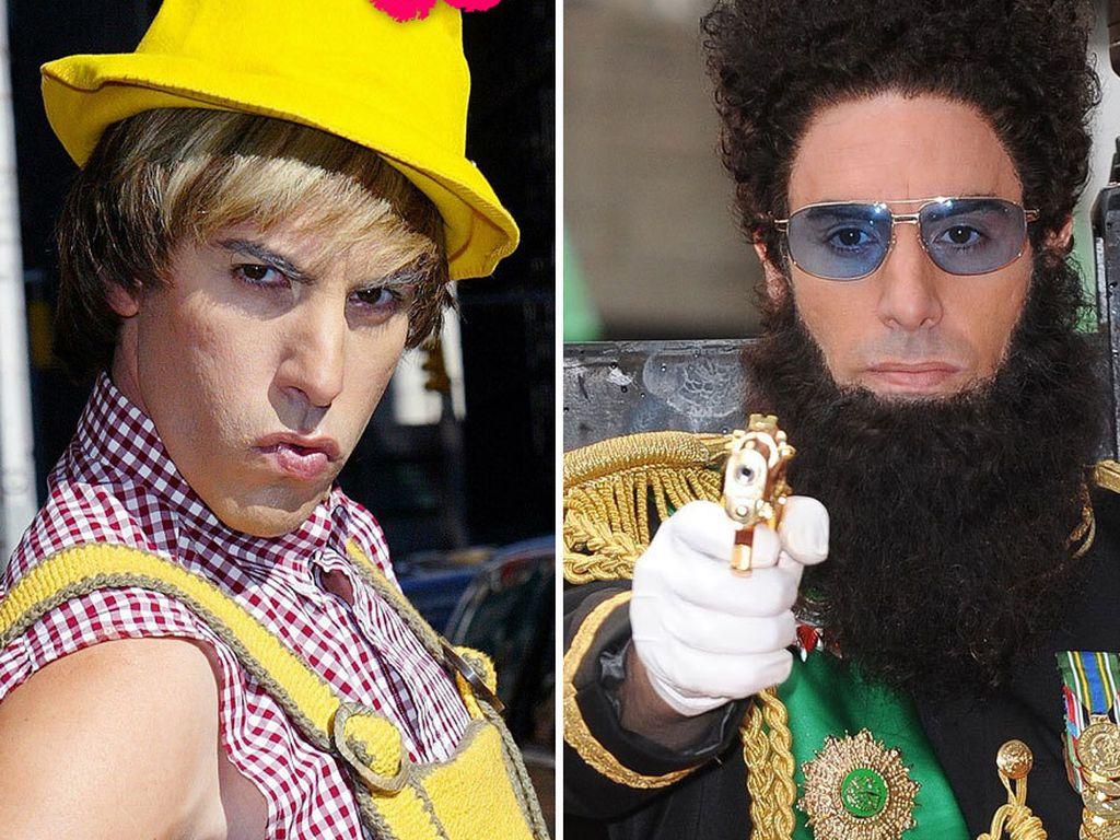 Sacha Baron Cohen in seinen vier Rollen