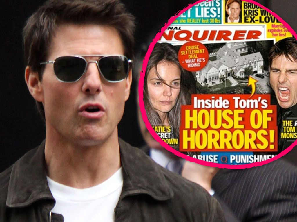 """Tom Cruise und das Cover vom """"National Enquirer"""""""