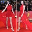 Kate Hall zeigte sich mit einem Vokuhila-Kleid auf dem roten Teppich