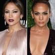 Jennifer Lopez probiert auch mal verschiedene Make-up Looks aus