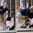 Peaches war mit ihrem Kind unterwegs, als der Unfall passierte