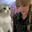 Taylor Swift gab ihrer Katze Meredith Nachhilfe