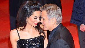 Amal und George Clooney ganz innig
