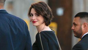 Anne Hathaway auf dem Weg zu Jimmy Kimmel