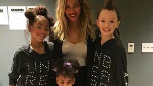 Beyonce mit Tochter und Tänzerinnen