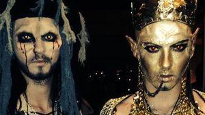 Bill und Tom Kaulitz an Halloween
