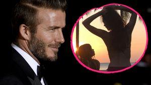 David Beckham, Victoria und Harper Collage
