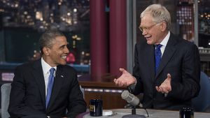 David Letterman redet mit Barack Obama