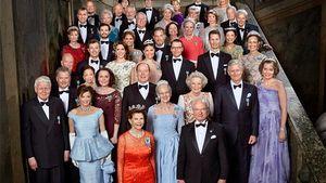 Die schwedische Königsfamilie und Gäste