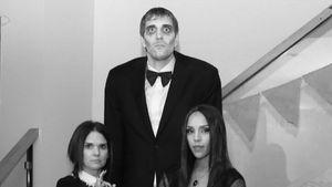 Dirk Nowitzki und seine Frau in Halloween Kostüm