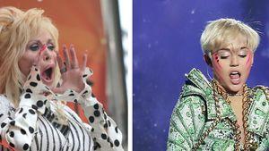 Dolly Parton ruft Miley Cyrus etwas zu