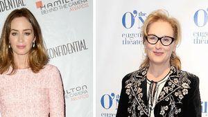 Emily Blunt und Meryl Streep posieren