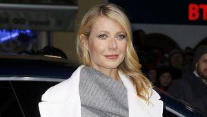 Gwyneth Paltrow trägt einen weißen Mantel