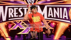 Hulk Hogan gestikuliert