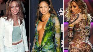 Jennifer Lopez' Looks im Laufe der Zeit