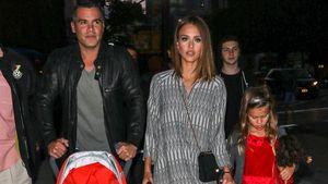 Jessica Alba mit ihrer Familie in New York