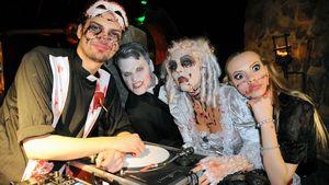 Jimi Blue, Rocco, Natascha und Chayenne auf Halloween-Party