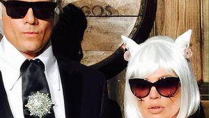 Josh Duhamel und Fergie als Karl Lagerfeld und Choupette