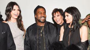 Kendall, Kylie, Kanye und Kris lachen