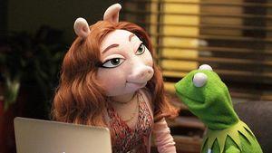 Kermit mit seiner neuen Freundin Denise