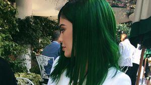 Kylie Jenner mit grünen Haaren