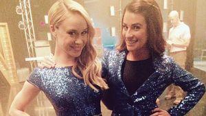 Lea Michele und Becca Tobin posieren zusammen