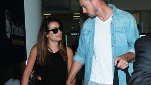 Lea Michele und Matthew Paetz am Flughafen