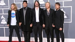 Die Foo Fighters bei den Grammys