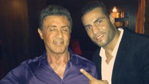 Manuel Charr und Sylvester Stallone