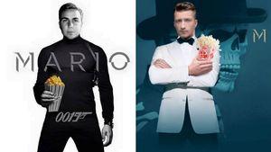 Mario Götze und Marco Reus als James Bond