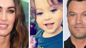 Megan Fox mit Sohn und Ex-Mann Collage