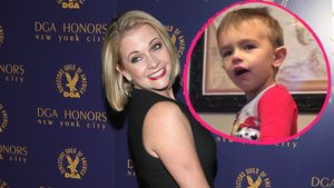 Melissa Joan Hart und ihr Sohn in einer Collage