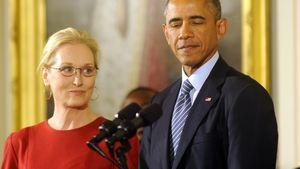 Meryl Streep bekommt die Freiheitsmedaille von Barack Obama
