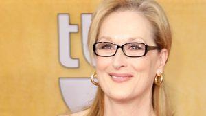 Meryl Streep in schwarzem Abendkleid