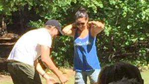 Mila Kunis und Ashton Kutcher in den Flitterwochen