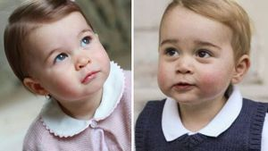 Prinzessin Charlotte mit eins und Prinz George mit anderthalb