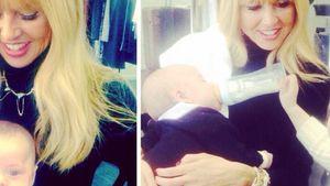 Rachel Zoe trägt Baby Kaius auf dem Arm und Skyler füttert seinen kleinen Bruder