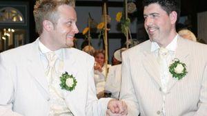 Ross Antony und Paul Reeves feiern ihren Hochzeitstag
