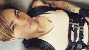 Ruby Rose am Set von Resident Evil