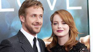 Ryan Gosling und Emma Stone posieren zusammen