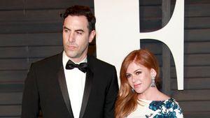 Sacha Baron Cohen und die schwanger Isla Fisher bei den Oscars