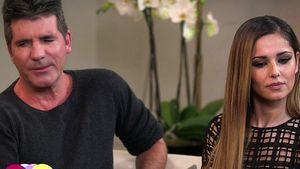 Simon Cowell und Cheryl Cole ganz ernst