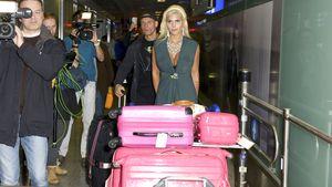 Sophia Wollersheim und Thorsten Legat bei ihrer Ankunft in Deutschland